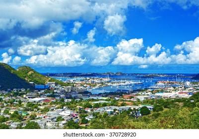 St Martin / Sint Maarten island, Caribbean sea