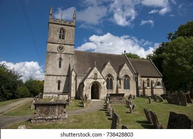 St Martin's Church, Bladon, burial site of Sir Winston Churchill, Bladon, Woodstock, England, UK - 28th July 2013