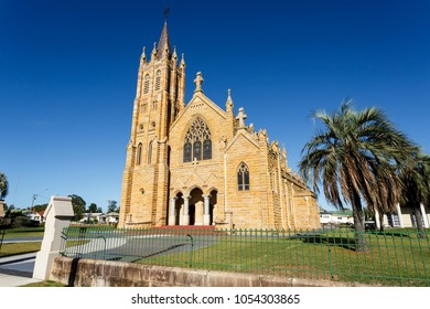 St Mary Catholic Church is a twentieth century Gothic revival sandstone church erected between 1920 and 26, with a traditional cruciform plan.