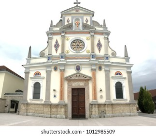 St. Mary of Help Basilica in Brezje, Slovenia.