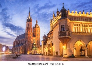 St. Mary's Church am Main Market Square in Krakau, Polen