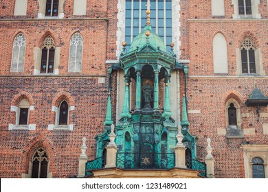 St. Mary's Basilica (Church of Our Lady Assumed into Heaven) in Krakow, Poland