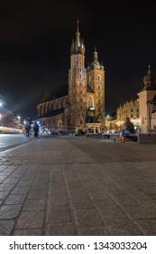 St. Mary's Basilica, main square, Krakow. Poland