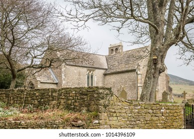 St Mary's church in the abandoned and derelict village of Tyneham in Dorset England