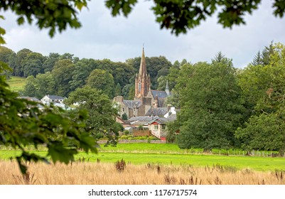 St Mary's Church across the fields, Moffat, Dumfries and Galloway, Scotland, UK.