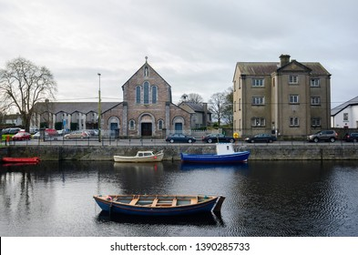 St. Mary's Church and Claddagh Piscatorial School. Galway, Ireland