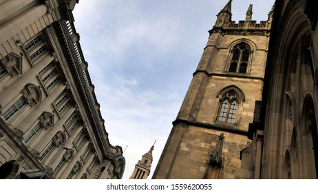 St Marys church in Lowgate in Hull's old town, East Yorkshire, England. 13th of November 2019