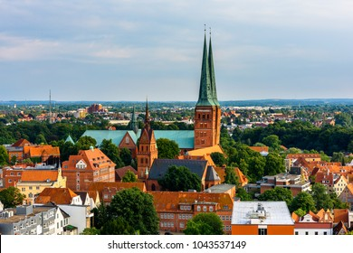 St. Mary's Church, the Old Part of Lubeck, a city in Schleswig-Holstein, northern Germany. UNESCO World Heritage