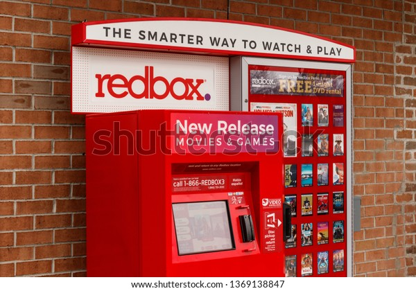 St. Marys - Circa April 2019: Redbox Retail Kiosk. Redbox Rents DVDs, Blu-Ray and Video Game Discs I