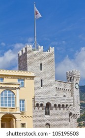 St Mary's and clock Towers. Prince's Palace of Monaco is official residence of Prince of Monaco. Principality of Monaco is a sovereign city state, located on French Riviera in Western Europe.