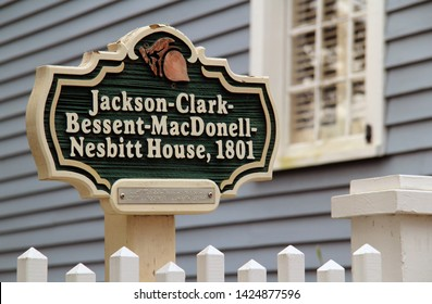 ST. MARYS, GA – FEBRUARY 16: The historic Clark Home is famous for serving as Aaron Burr's temporary hideout following his infamous dual with Alexander Hamilton February 16, 2018 in St. Marys, GA