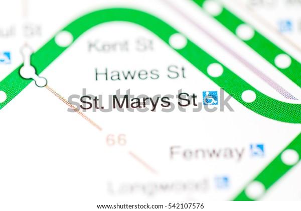St Marys St Station Boston Metro Stock Photo Edit Now 542107576