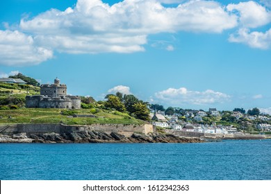 St Mawes Castle is an artillery fort constructed by Henry VIII, Roseland peninsula, Cornwall, England, UK.
