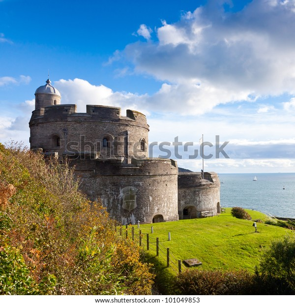 St Mawes Castle built during the reign of King Henry the VIII. Cornwall England UK