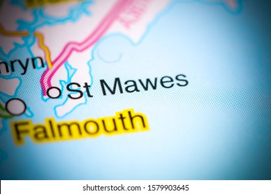St. Mawes. United Kingdom on a map