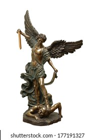 St Michael the archangel bronze statue