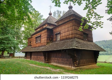 St. Michael Archangel's Historic orthodox Church in Smolnik near the border between Poland and Ukraine. A part of the UNESCO  Wooden tserkvas of the Carpathian region in Poland and Ukraine.