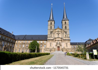 St Michael Church, Michaelskirche in Bamberg, Germany. It is placed on the top of a hill. Large part of Bamberg is a UNESCO World Heritage Site.