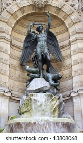 st. Michael fountain in Paris