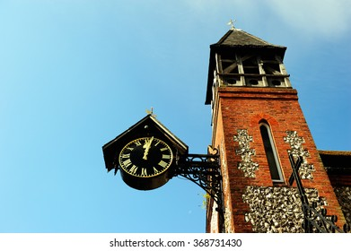 St. Michaels Church and clock tower in Lewes, East Sussex, England, UK