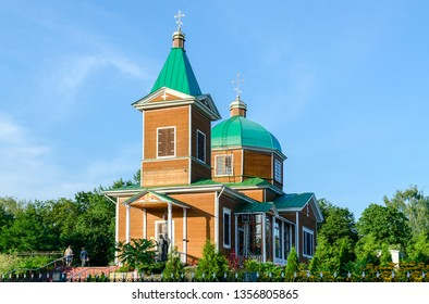 St. Michael's church, memorial to victims of Chernobyl, summer view, Gomel, Belarus