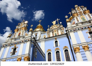 The St. Michael's Golden-Domed Cathedral on the grounds of the St. Michael's Golden-Domed Monastery in Kyiv, Ukraine