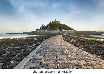 St Michael's Mount in Cornwall the Cornish counterpart of Mont Saint-Michel in Normandy