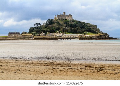 St. Michaels Mount in Cornwall (near village of Marazion), UK