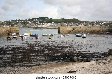 St Michaels Mount harbour Cornwall
