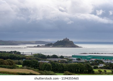 St Michael's Mount under stormy skies