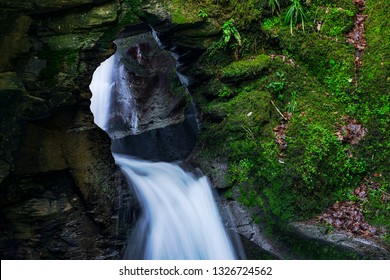 St Nectans Glen, Tintagel, Cornwall, UK. 25/02/2019. St Nectans Glen & waterfall is a popular destination for people looking to connect with their spiritual side and remember lost loved ones.