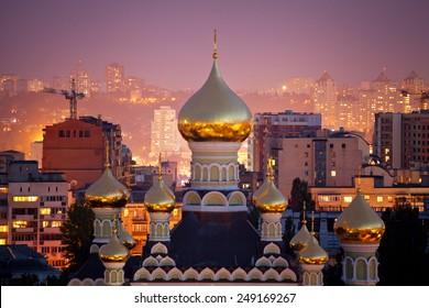 St. Nicholas Cathedral in Pokrovsky Monastery in Kiev, Ukraine