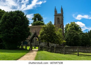 St Nicholas Church in Chawton, Hampshire, England, UK. Jane Austen's parish church and the burial place of her mother and sister.