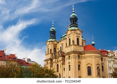St. Nicholas Church is a Late-Gothic and Baroque church in the Old Town of Prague.
