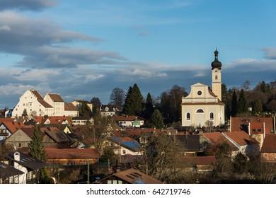 St Nicholas church in Murnau Germany as in the painting of Gabriele Munter