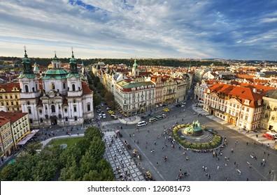 St. Nicholas Church, Old Town Square in Prague, Czech Republic.