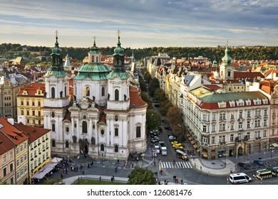 St. Nicholas Church, Old Town Square in the Czech Republic