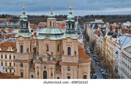 St Nicholas Church at Old Town Square in Prague - St Nikolaus