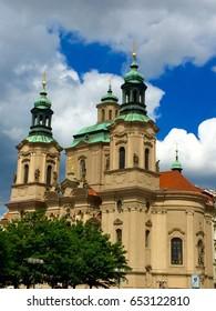 St. Nicholas Church Old Town Square, Prague, Czech Republic