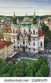 St. Nicholas Church in Prague, Czech Republic.