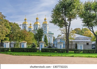 St. Nicholas Naval Cathedral or St Nicholas Maritime Cathedral, a major Baroque Orthodox cathedral and a major example of the so-called Elizabethan or 'Rastrellian Baroque in Saint Petersburg