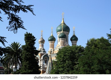 The St Nicholas Orthodox Cathedral (the largest Eastern Orthodox cathedral in Western Europe). Nice, France. June 25, 2011