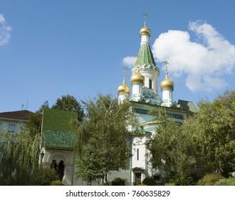 St. Nicholas Russian church in Sofia, Bulgaria