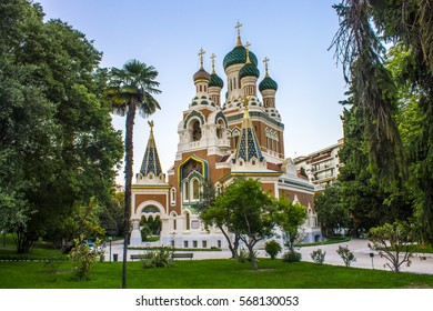 The St Nicholas Russian Orthodox Cathedral, an Eastern Orthodox cathedral located in the city of Nice.It is the largest Eastern Orthodox cathedral in Western Europe and a National Monument in France.
