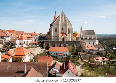 St. Nicholas Square, St. St. Nicholas Church and St. Wenceslas Chapel, Znojmo, Czech Republic