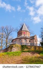 St. Nicolas church in the Dutch city of Nijmegen. Valkhof Park. Netherlands, Holland. Europe.