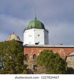 St. Olaf tower of Vyborg castle. Vyborg, Leningrad region, Russia-4.10.2018