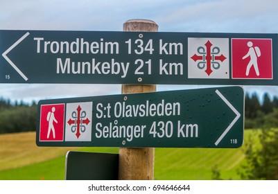 St Olavsleden a pelgrim route between Sweden and Norway.