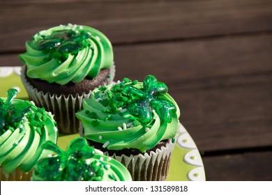 St. Patrick cupcakes