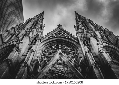 St. Patrick's Cathedral is the largest Gothic Catholic cathedral in the US and the Mother Church of the Archdiocese of New York and the seat of the Archbishop decorated in neo-gothic style.